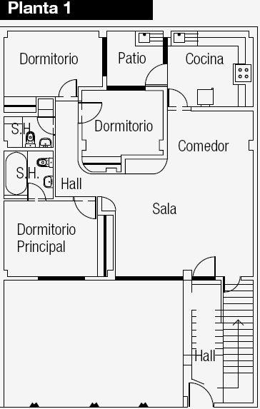 Planos de vivienda con departamento independiente en la for Planos de casas de dos plantas gratis