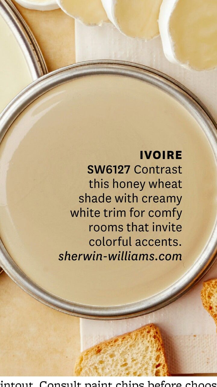 Sherwin Williams Ivoire Pretty Honey Wheat Color Paint