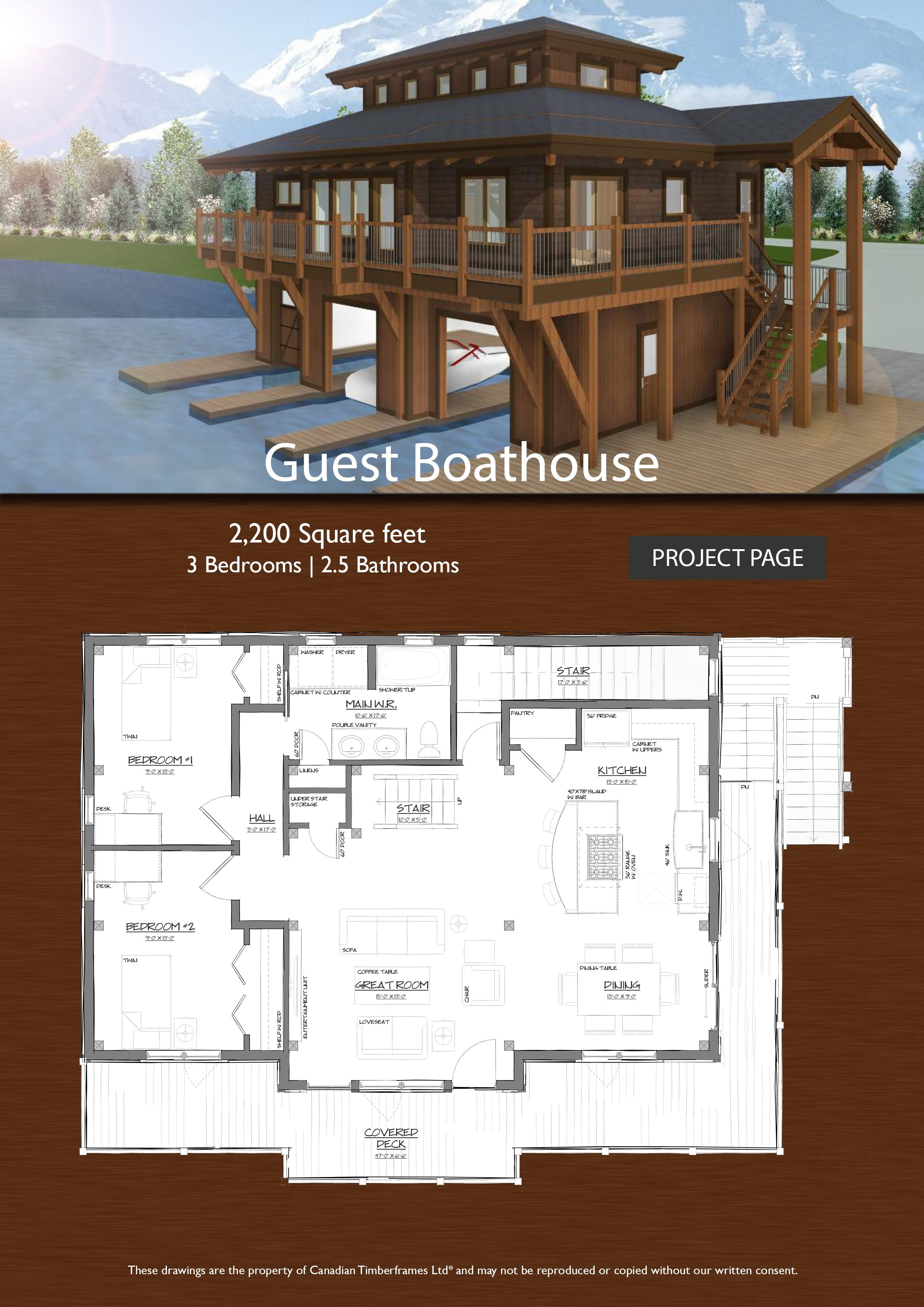 Guest Boathouse Timber Frame Design House Boat Lakefront Living Boat Building Plans
