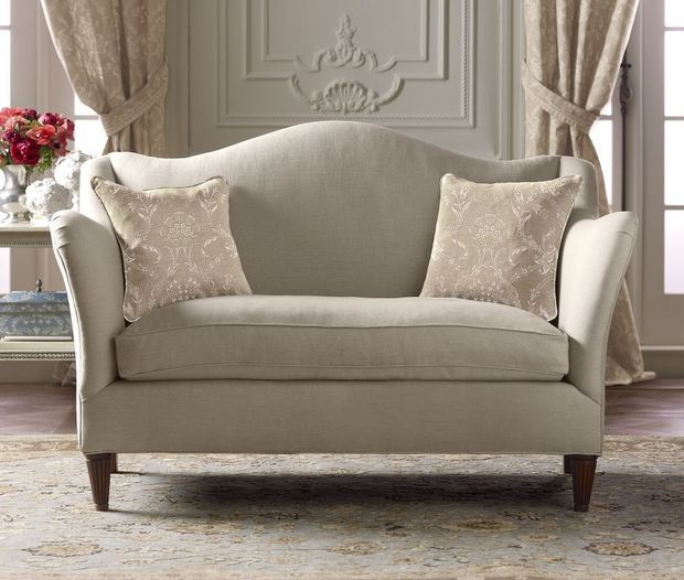 Camelback Loveseat - French Country - Pierre Deux