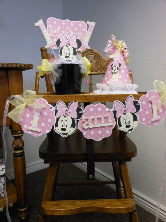 Minnie Mouse DIY Pink and Yellow 1st Birthday by ASweetCelebration