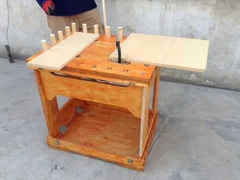 Mesa de trabajo plegable madera3 pinterest mesa de for Mesa plegable trabajo