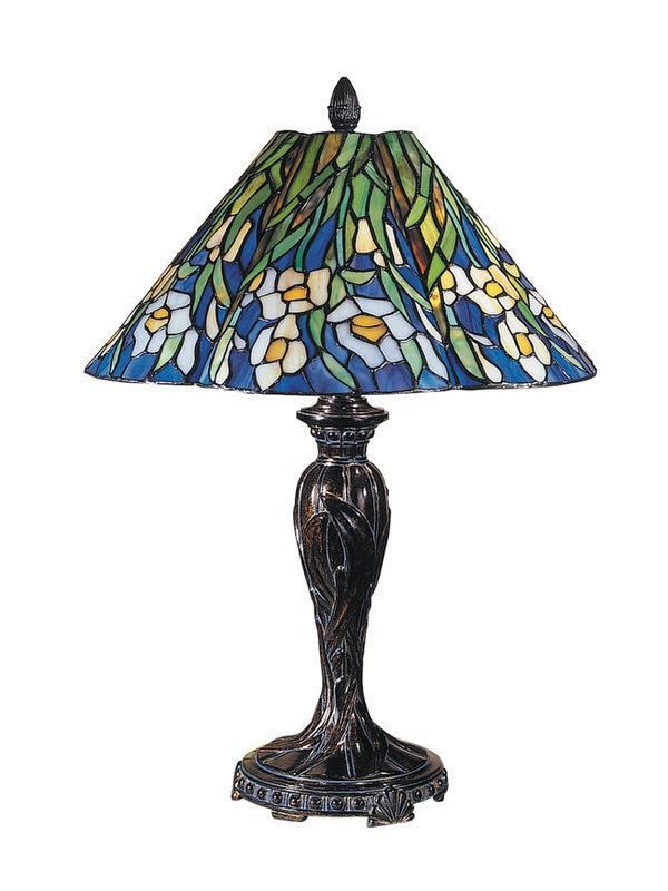 """Dale Tiffany, TT100593, Table Lamps,Fieldstone, Lamps Dale Tiffany TT100593 23"""" Courtney Tiffany Table Lamp with 2 LightsAdd sophistication to your home with this attractive 23"""" Courtney... More Details"""