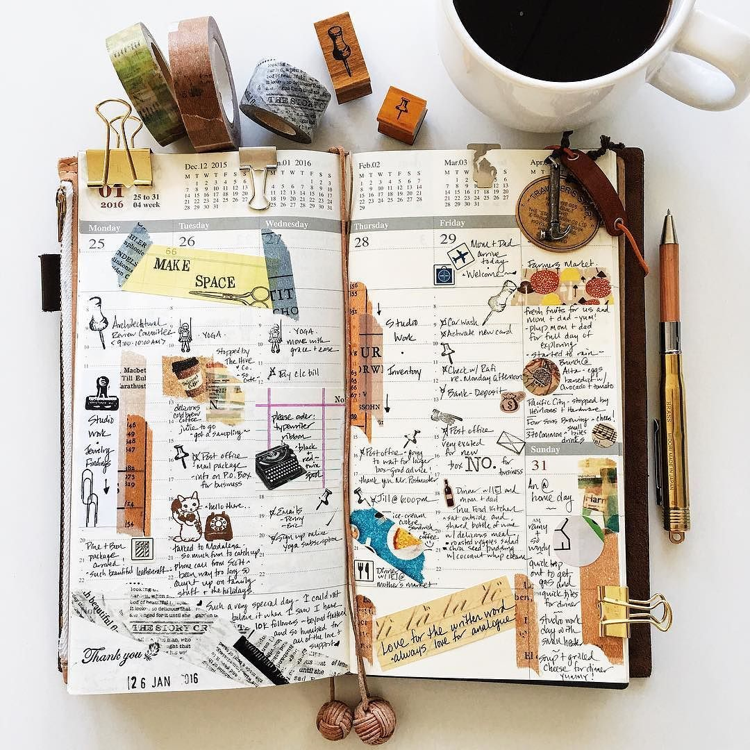   a look back  week 4   #liveauthentic #livefolk #nothingisordinary #coffeetime #coffee #zakka #midoritravelersnotebook #travelersnotebook #travelersnote #travelersfactory #midori #journal #planner #plannernerd #plannerlove #stationerylove #stationery #washitape #stamps #papercraft #scrapbooking #diary #typography #handwriting #vsco #vscocam by a3amylin