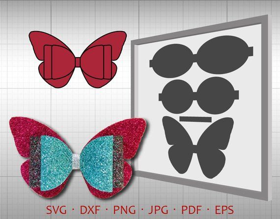 Butterfly 3d Bow Svg  Diy Bow Cut File  Leather Hair