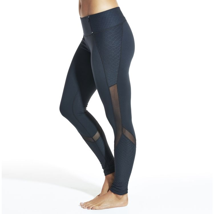 Textured Fitness Leggings: CALIA By Carrie Underwood Women's Textured Mesh Pieced