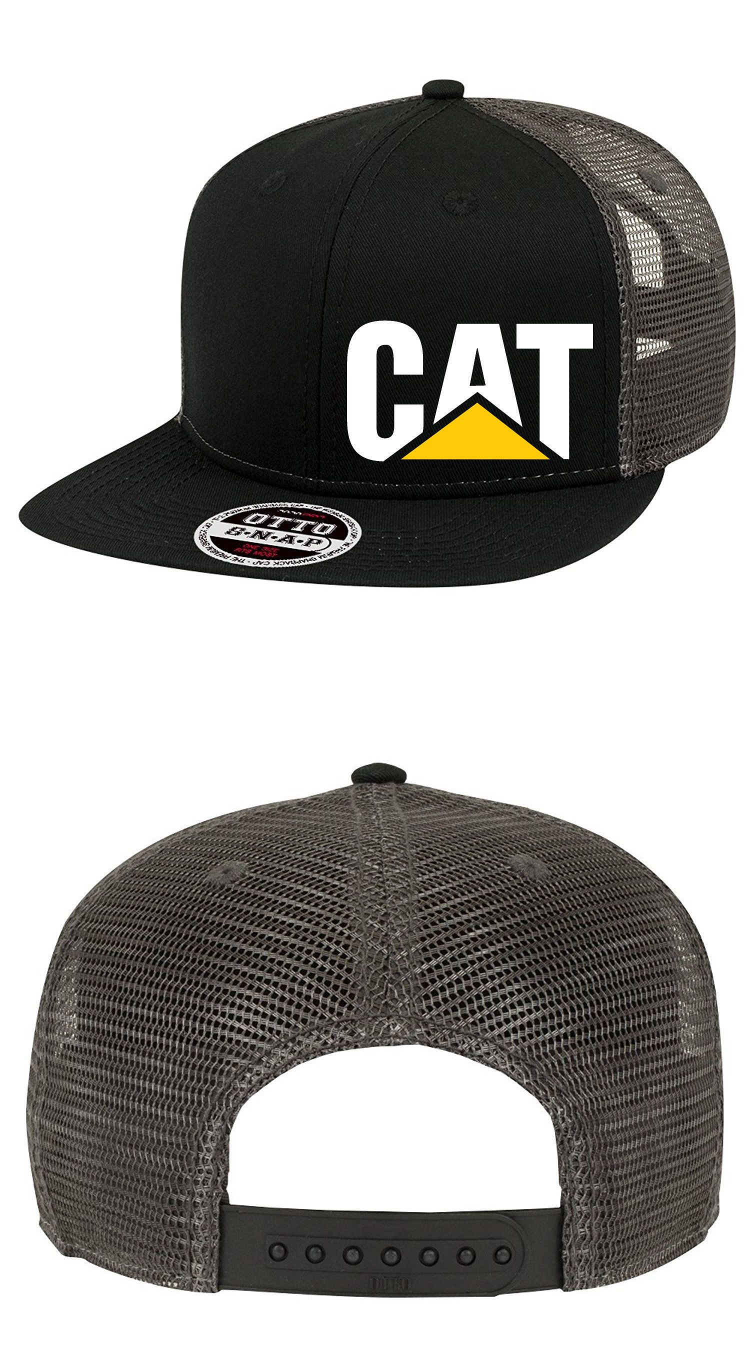 newest 524c3 f1579 Hats 52365  Cat Trucker Hat Mesh Caterpillar Construction Flat Bill  Snapback Flexfit Cap New -  BUY IT NOW ONLY   10.99 on  eBay  trucker   caterpillar ...
