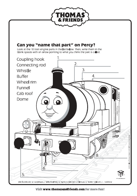 Thomas Amp Friends Name That Part Activity Find Lots More