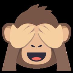 See No Evil Monkey On Emojione 3 1 Monkey Emoji Three Wise Monkeys Wise Monkeys