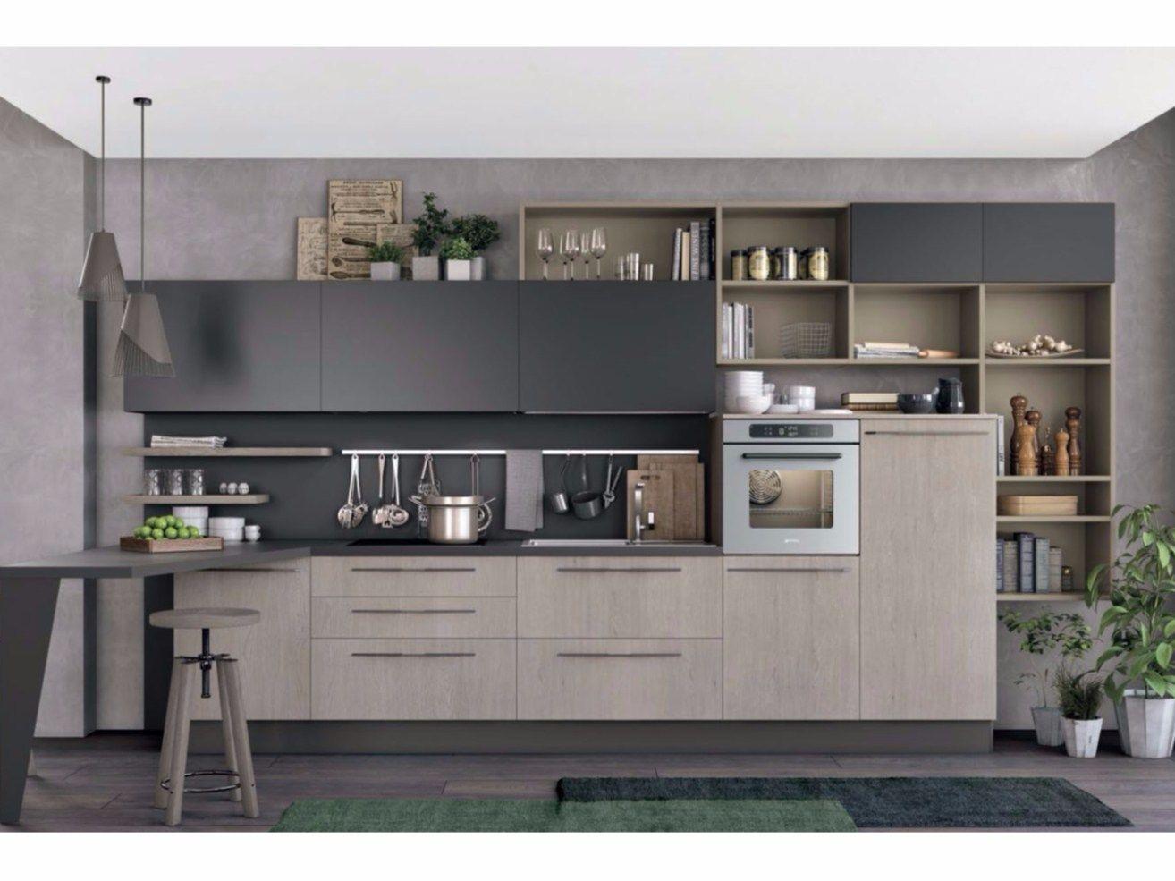 Linear Fitted Kitchen Clover 03 By Cucine Lube Kitchen Design Small Kitchen Inspiration Design Kitchen Room Design