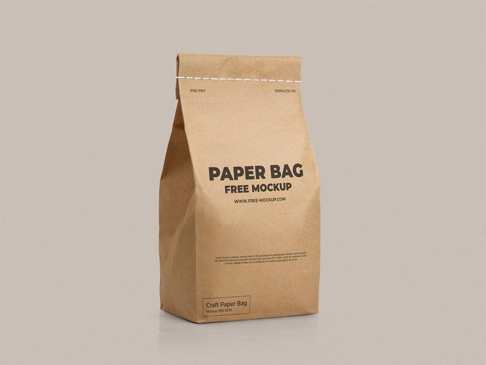 Download Free Craft Paper Bag Mockup Free Mockup Bag Mockup Paper Bag Paper Bag Design