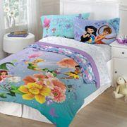 Disney Tinkerbell Fairies Fantasy Floral Twin Full Bedding