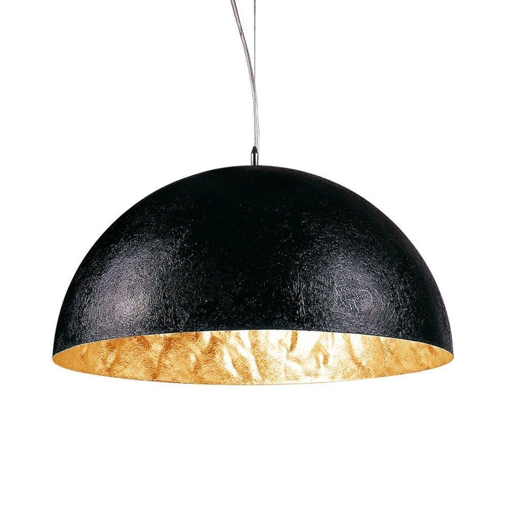 s.LUCE Blister / Pendelleuchte 40 cm / schwarz gold / Pendellampe ...