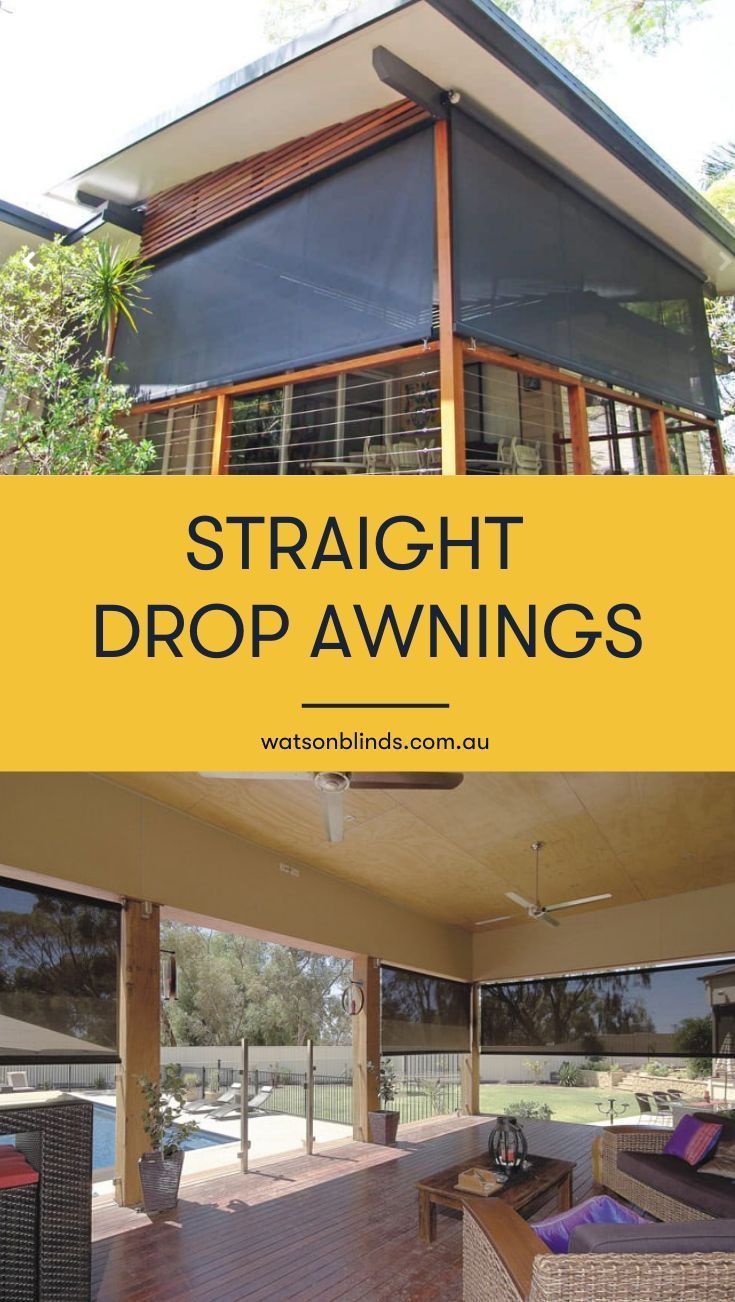 The Straight Drop Awning is a traditional awning style ...