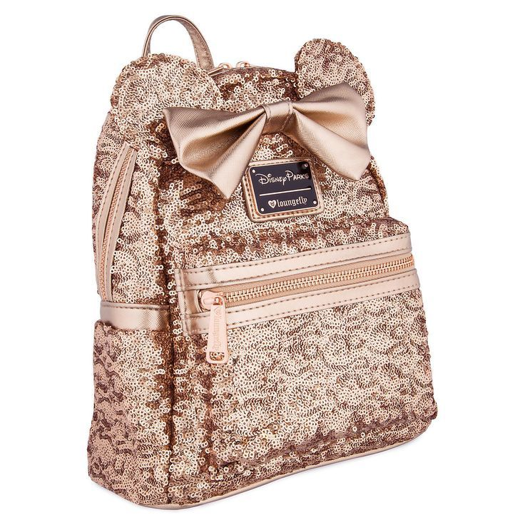 98d325632c Minnie Mouse Sequined Mini Backpack by Loungefly. If you re into rose gold