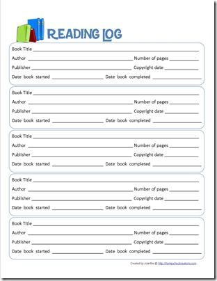 Book Report Form and Reading Log Printables Reading logs - printable book report forms