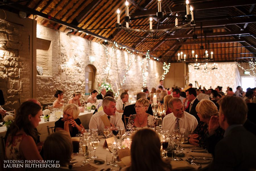 Wedding Dinner In The Barn At Larchfield Wedding Venues