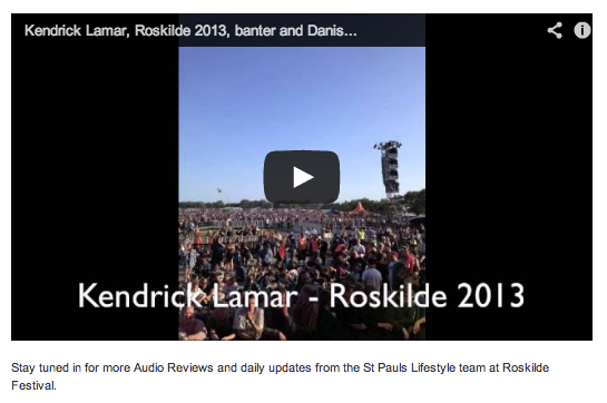 Have a look here at some of the Audio Reviews by our Roskilde Festival team! With Volbeat, Metallica, Chase & Status, Kendrick Lamar, Kvelertak, Sigur Rós and Indians. Excitement is brewing... Here: http://www.stpaulslifestyle.com/articles/2013/07/06/roskilde-festival-consistent-happiness/ #exciting #roskilde #look #checkitout #stpaulslifestyle #audioreviews