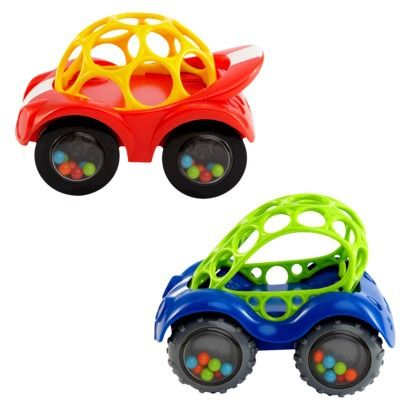 Toys Oball Rattle Race Car Baby Teether Roll Cars Children Learn Wheel 1 Piece