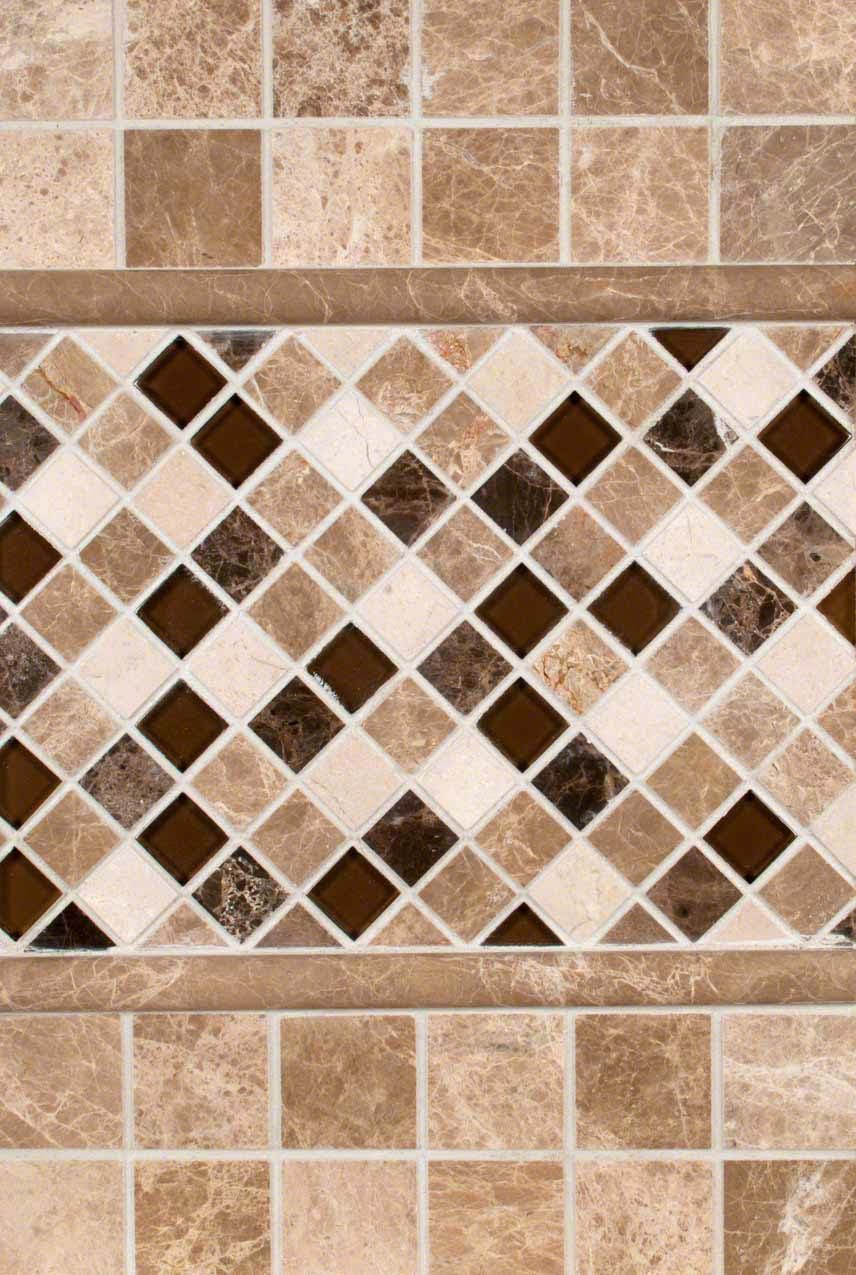 - Emperador Light 2x2 Tumbled And Ibiza Blend Tile Backsplash