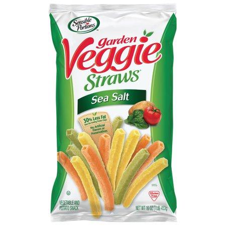 Sensible Portions Sea Salt Garden Veggie Straws 16 Oz Walmart Com Veggie Straws Garden Veggie Straws Veggie Chips