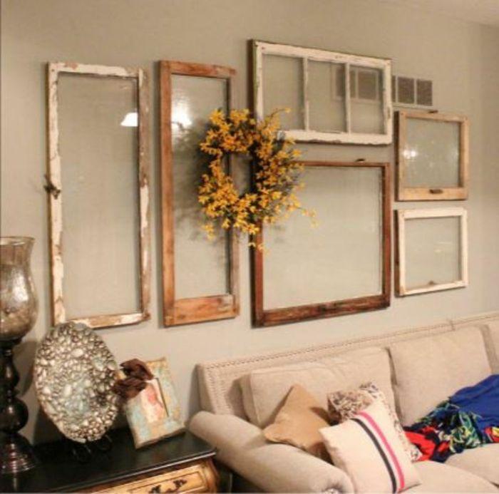 30 deko ideen und einrichtungsbeispiele wie sie die alten fenster wieder verwenden beton. Black Bedroom Furniture Sets. Home Design Ideas