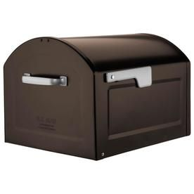 Architectural Mailboxes 14 2 In W X 11 9 In H Metal Rubbed Bronze Post Mount Mailbox Lowes Com Architectural Mailboxes Mounted Mailbox Large Mailbox