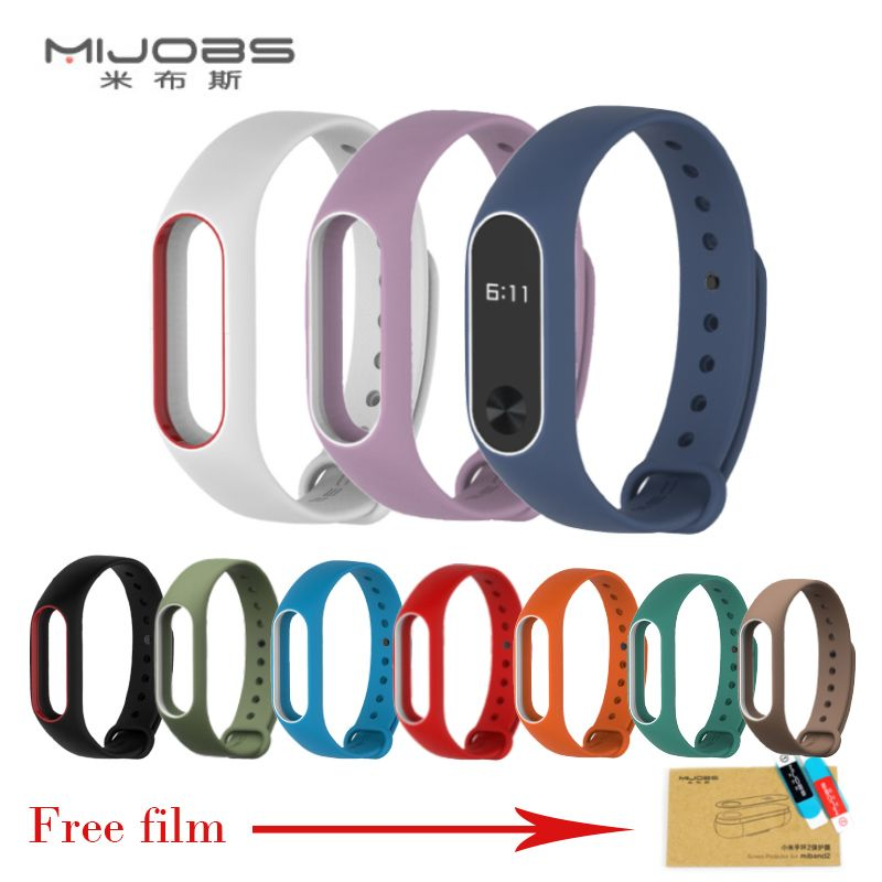 Xiaomi Mi Band 2 Strap For Mi Band 2 Silicone Strap Bracelet Replacement Wristband Smart Band Accessories Colorful Wrist Strap Relogios Pulseiras