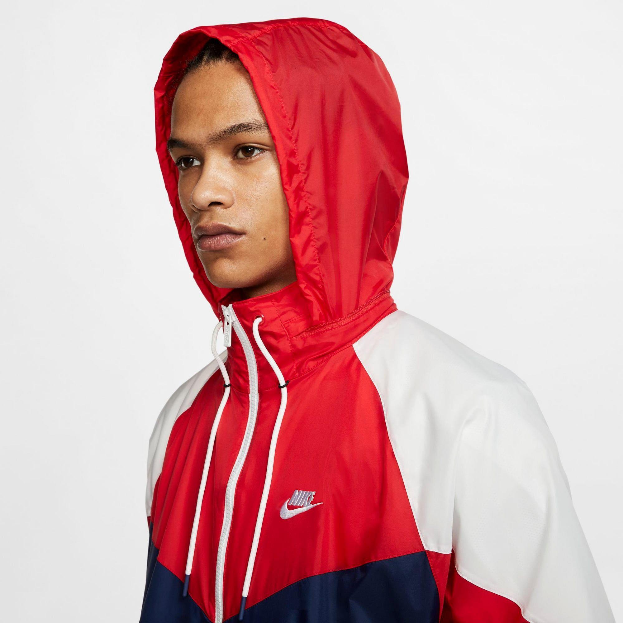 Nike Sportswear Windrunner Herren, Kobaltblau Rot, Größe M