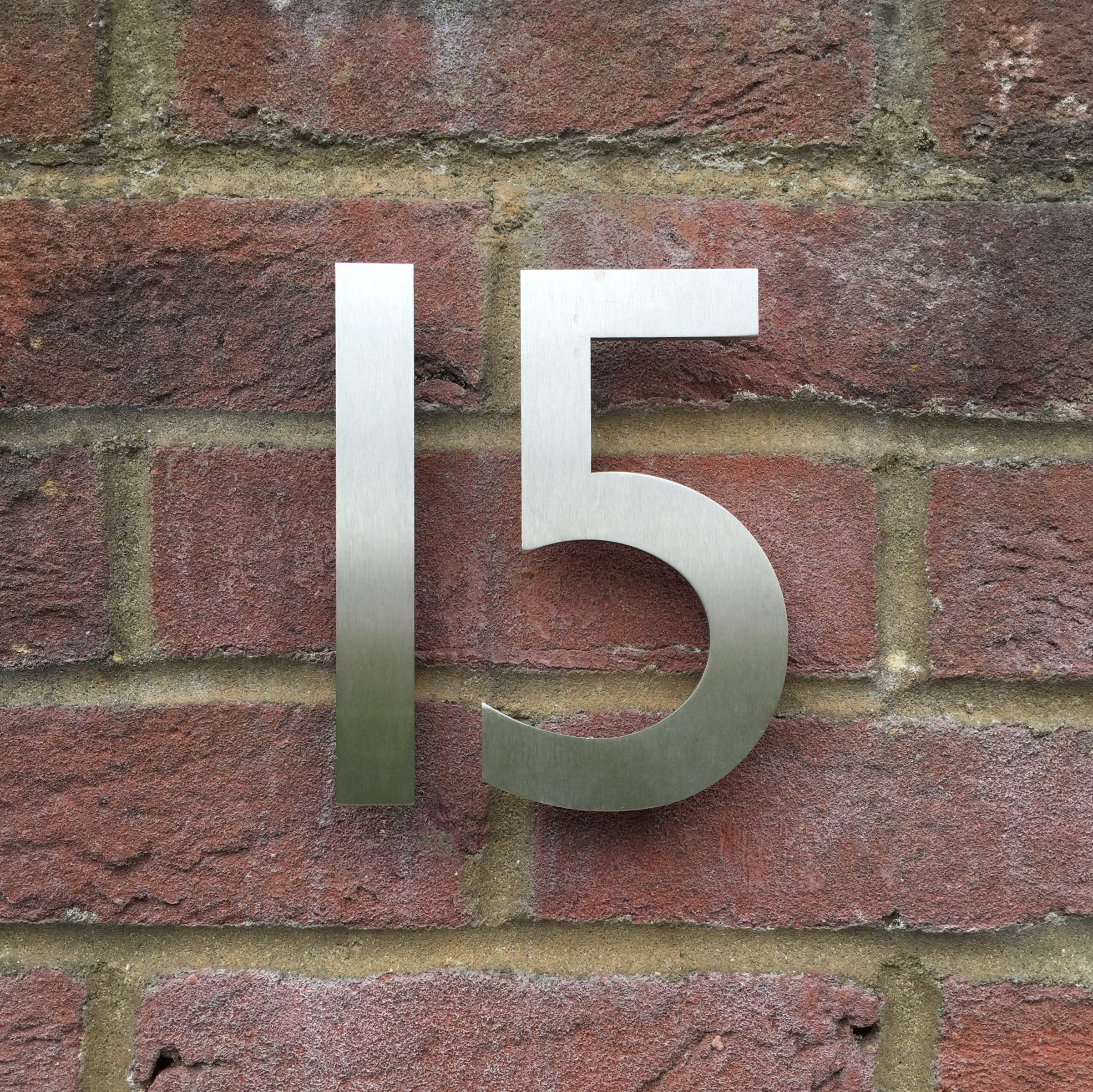 Stainless Steel House Numbers With A Hidden Fixing System Suitable For Masonry Or Wood This Famous Contemporary House Numbers Steel House Modern House Number