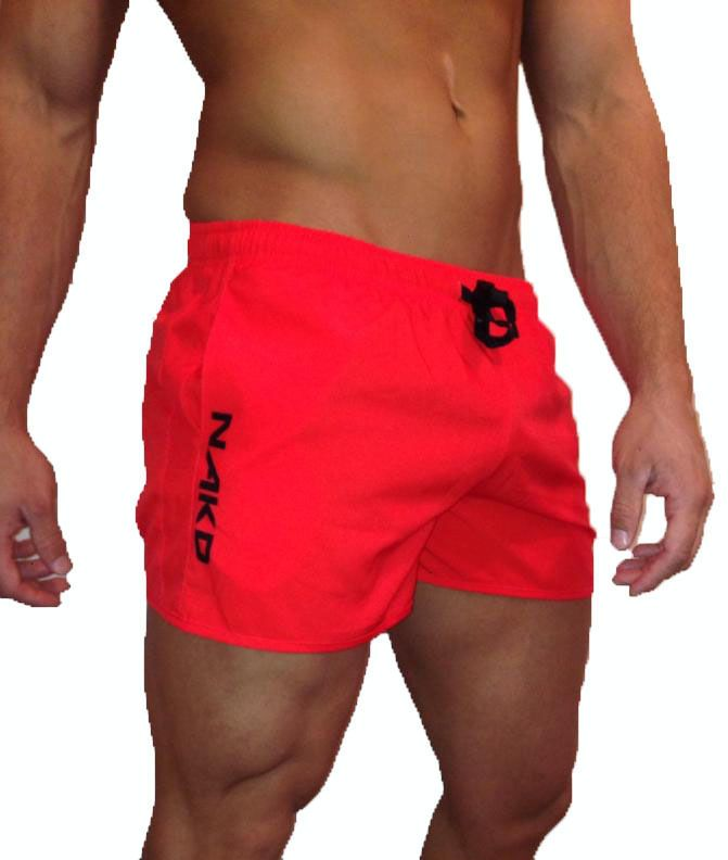 d217dad2e4333 NAKD Flex short, BODYBUILDING, GYM SHORT, MENS TRAINING, RUNNING, WORKOUT  Red  NAKD