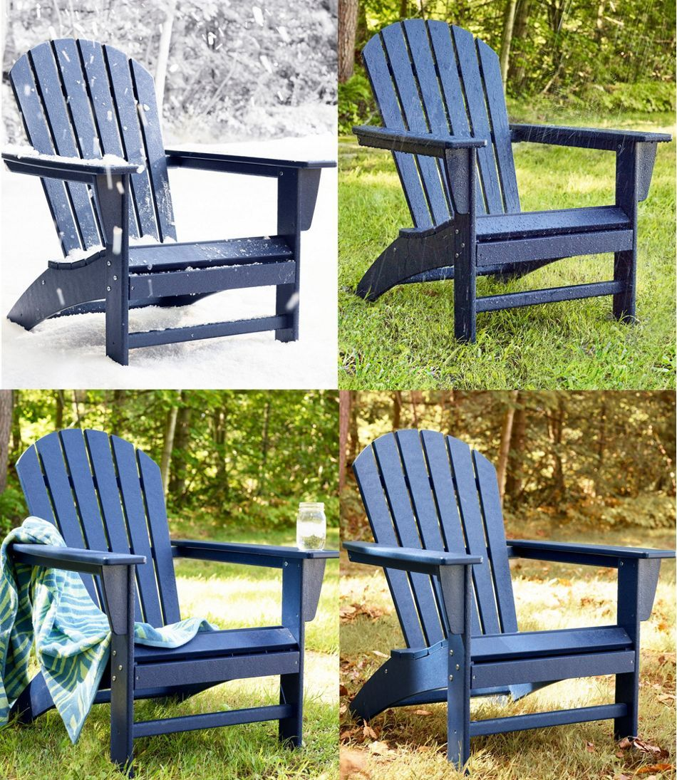 All-Weather Waterfall Adirondack Chair in 2020   Outdoor ...