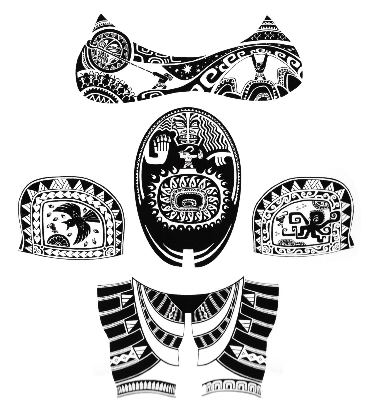youkaiyume: Here are Maui\'s tattoos from his front, including his ...