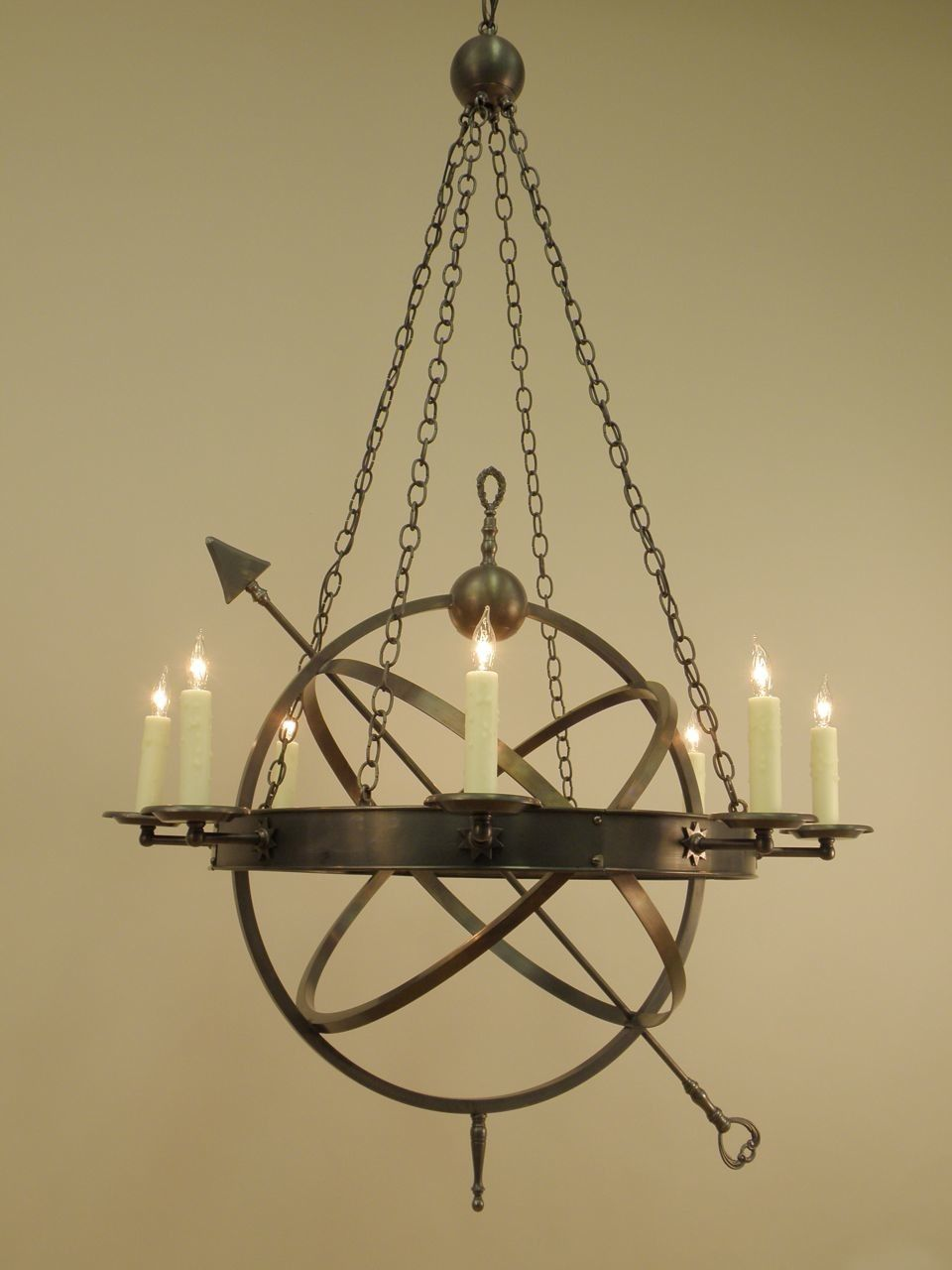 Beautiful vermont made colonial reprodution lighting from authentic beautiful vermont made colonial reprodution lighting from authentic designs the custom made armillary chandelier in arubaitofo Image collections
