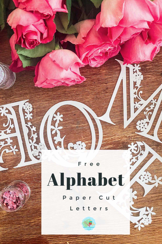 Photo of Free Cricut Floral Alphabet Templates (Paper & Vinyl) Extraordinary Chaos