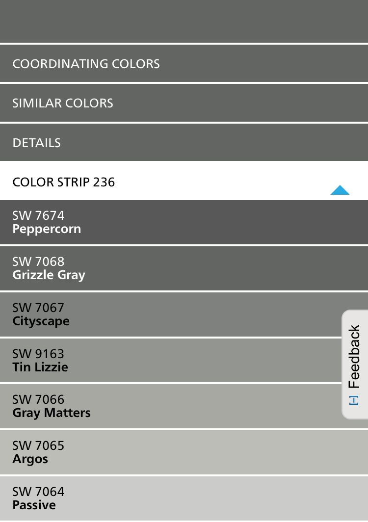 True Grays Sherwin Williams 236 Color Card Sherwin Williams