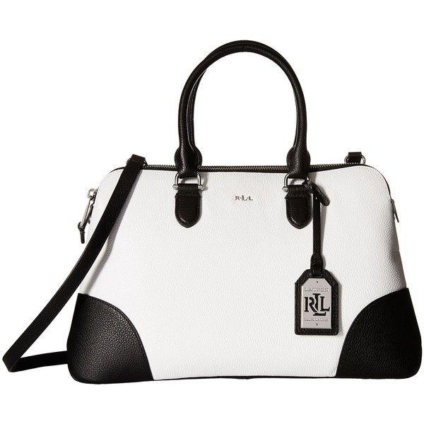 26de2b6dc434 Black Handbags · Satchel Bag · Men Bags · LAUREN Ralph Lauren Harrington  Color Block Double Zip Dome (Bright... (3.795