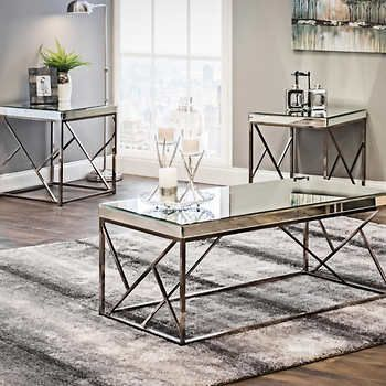 Best Lexie 3 Piece Occasional Table Set Living Room Table 400 x 300