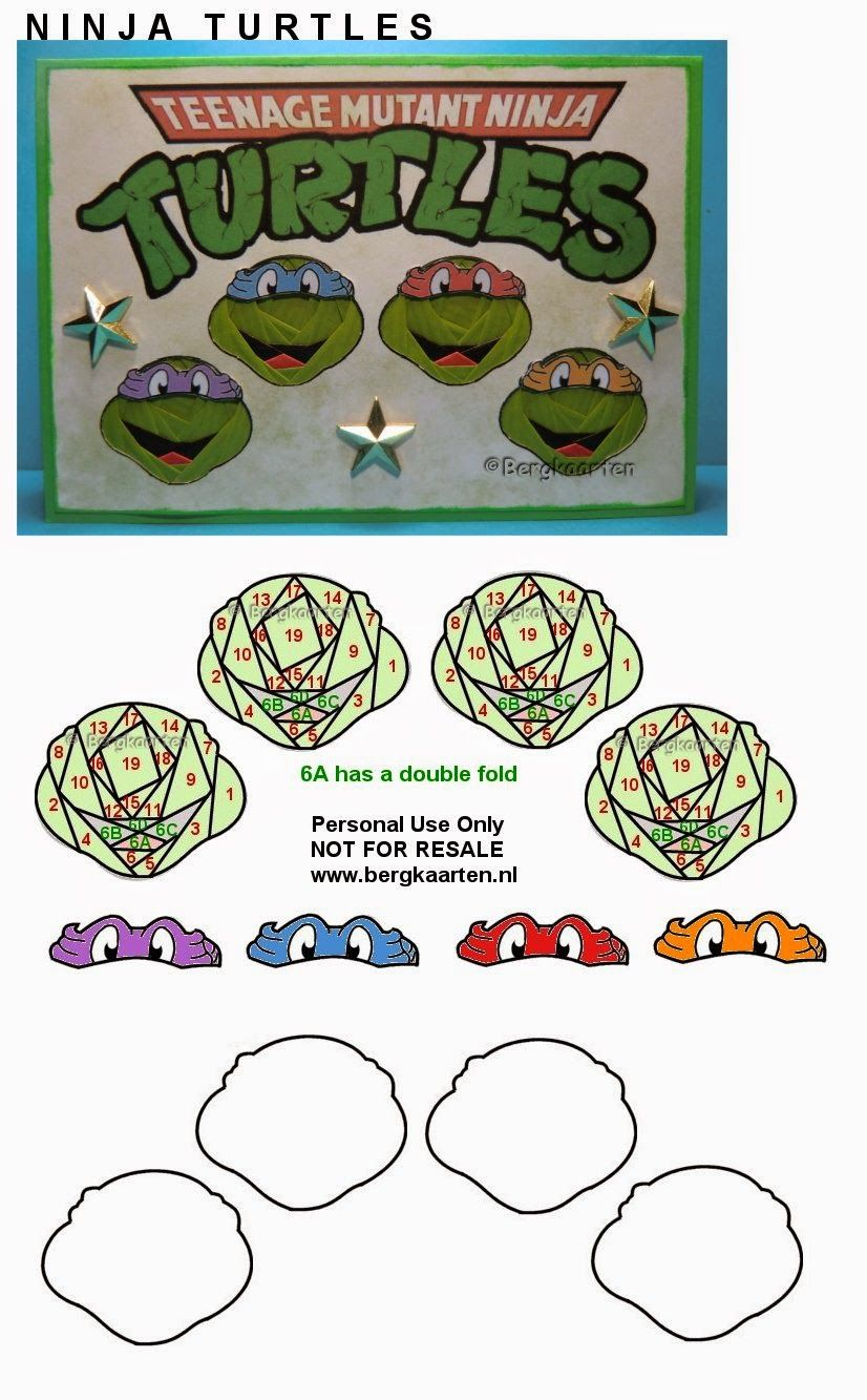 Iris Folding: Ninja Turtles | handmade cards | Pinterest ...