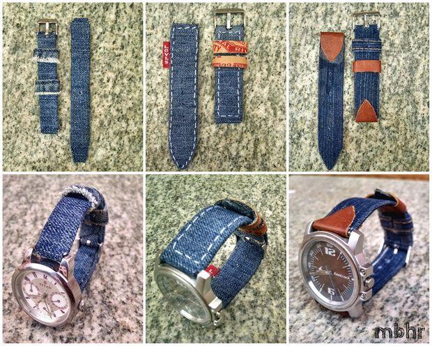 Diy Denim Watch Strap Denim Diy Diy Watch Band Denim Jewelry