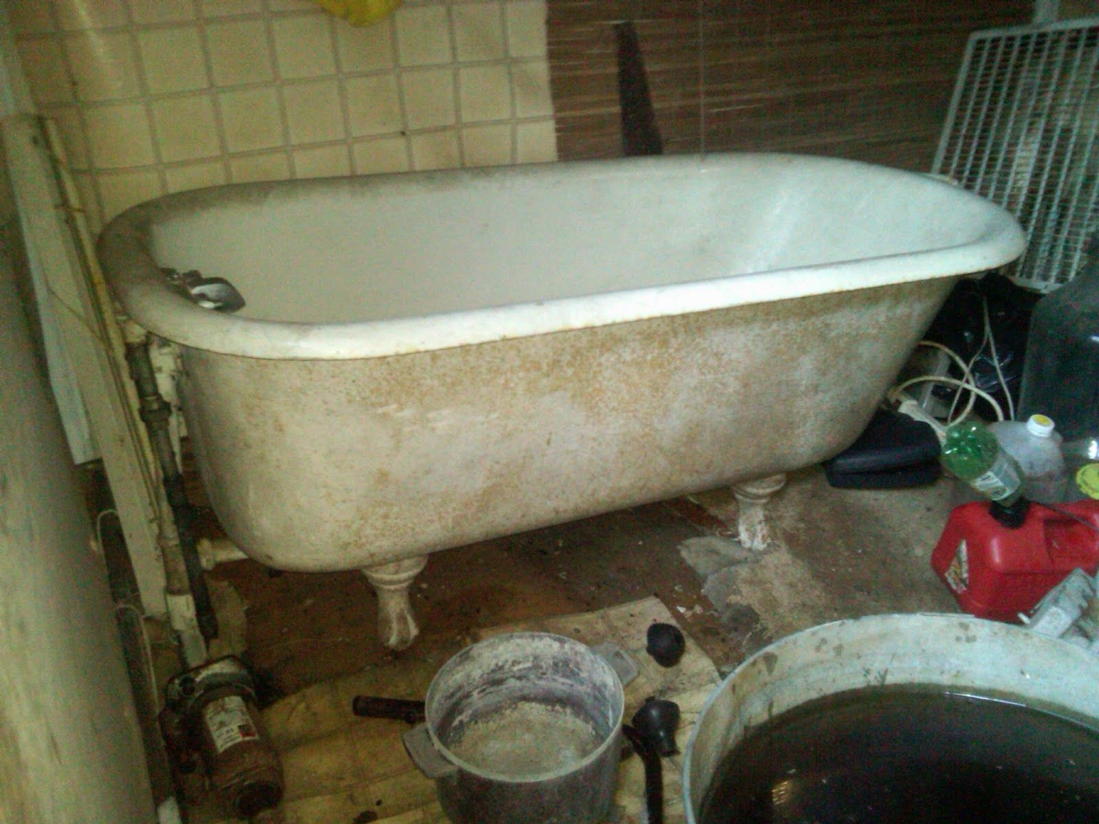 Refinishing Porcelain Bathtubs U0026 Sinks, Part 2 ~ Mom And Her Drill