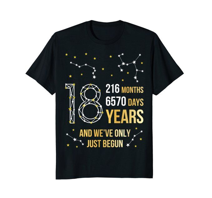 18th Wedding Anniversary Gift Ideas For Her: Pin On 18th Wedding Anniversary Gifts And Tees 18 Years
