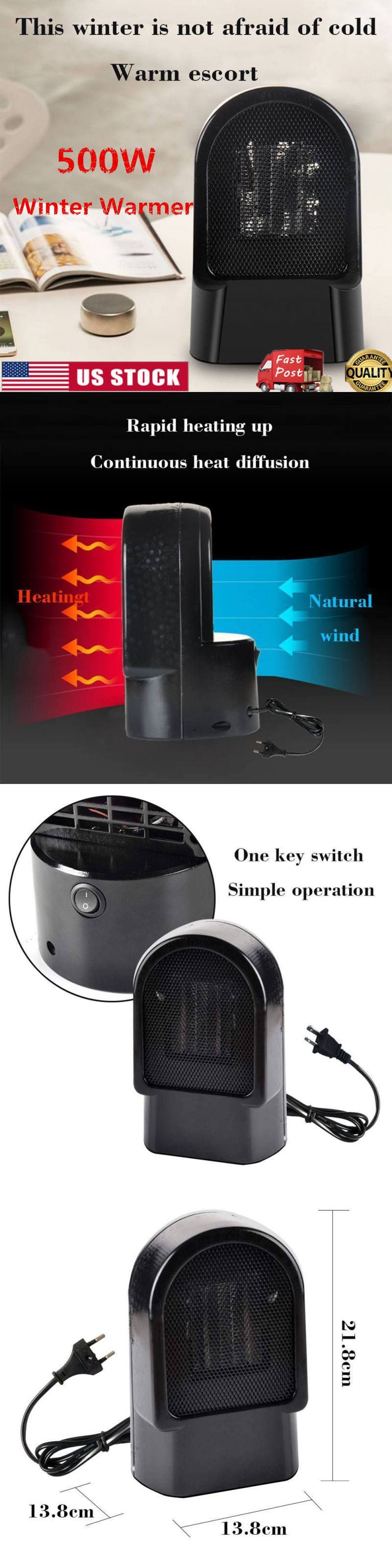 HOT Silent Electric Heater Warm Air Blower Upright Home
