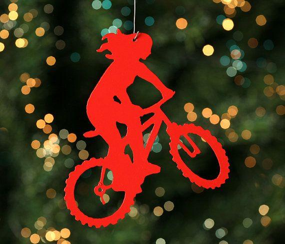 Mountain Bike Christmas Tree Ornament On Etsy 8 00 So Cute