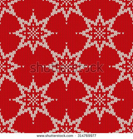 Christmas Sweater Design. Seamless Pattern with Stars