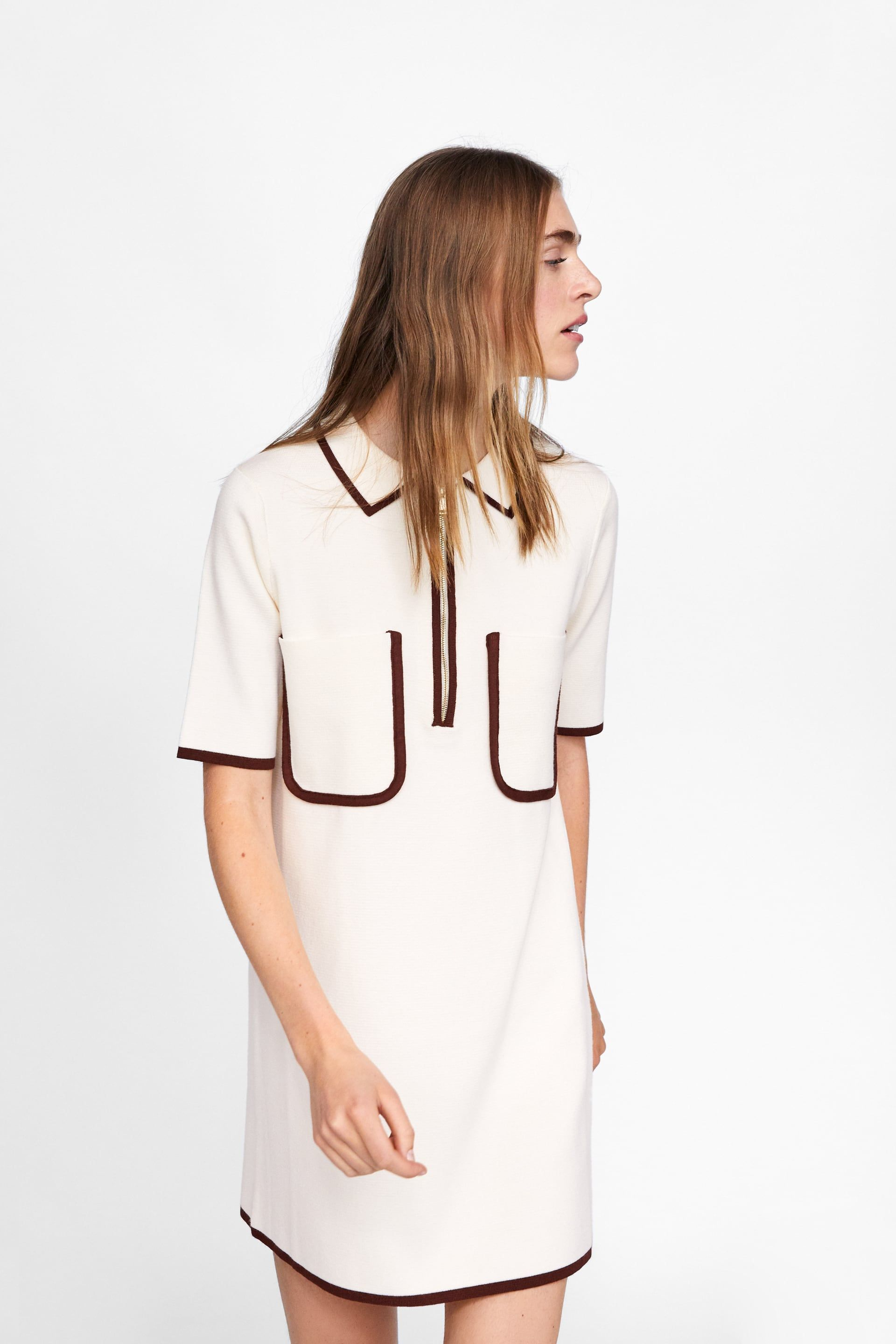 c95e6388bf Image 2 of POLO-STYLE DRESS WITH CONTRASTING TRIMS from Zara   XMAS ...