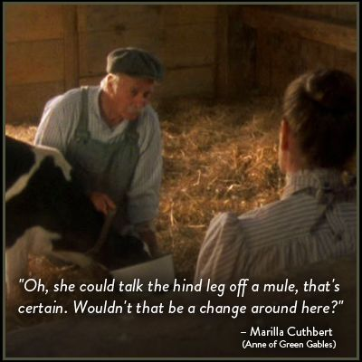 This Is My Husband S Favorite Quote From The Movie Anne Reminds