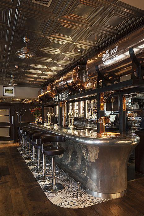 Galvin hop spitalfields restaurant interior design by for Hill james design d interieur