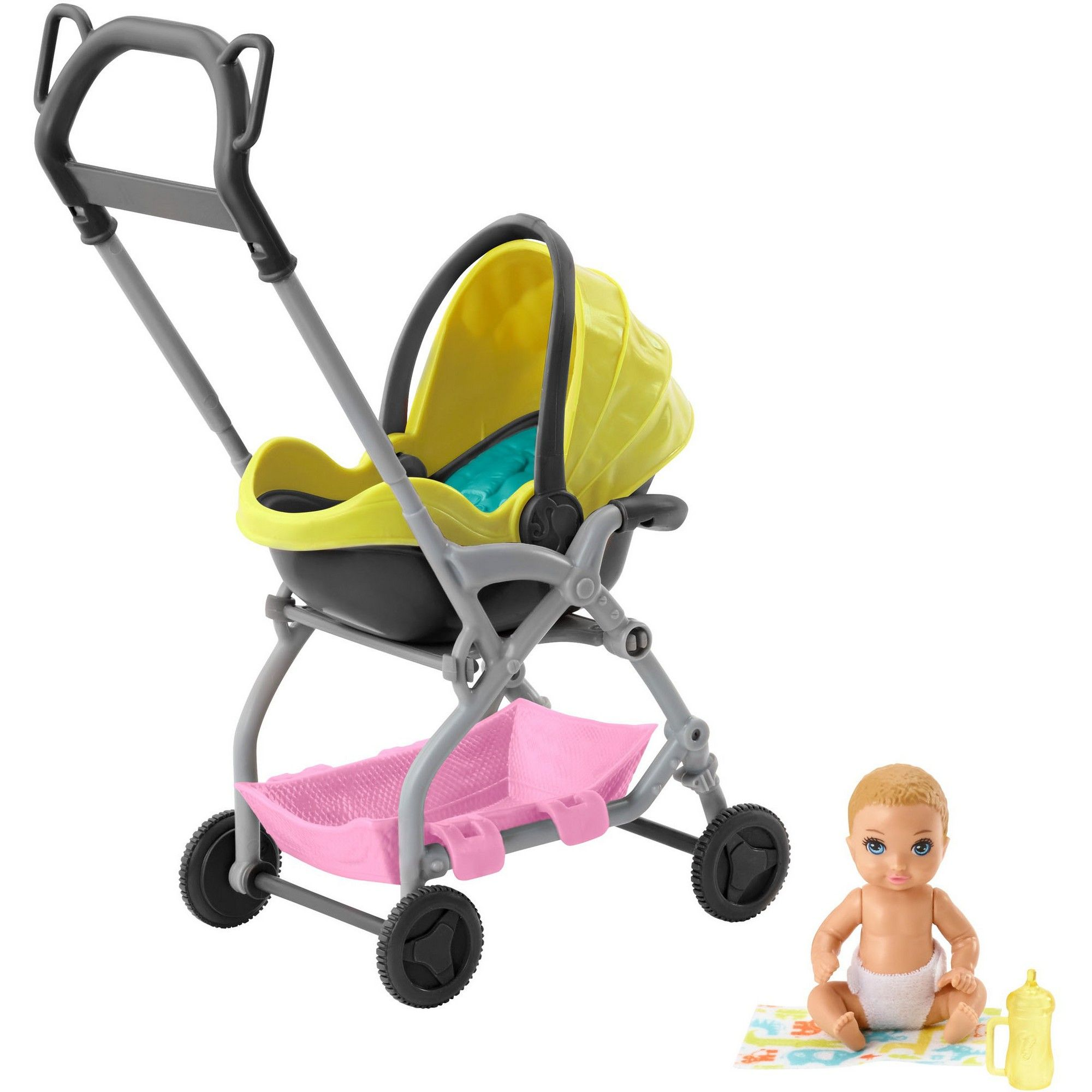 Barbie Skipper Babysitter Inc. Stroller and Baby Playset