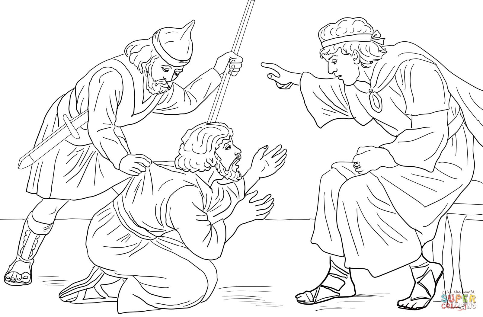 Coloring page for parable of the unmerciful servant 1600 for Unmerciful servant coloring page